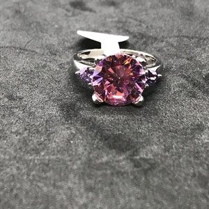 Sterling Silver CZ Cocktail Ring Size 9